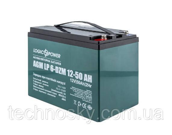 Тяговая аккумуляторная батарея LogicPower LP 6-DZM-50A (тяговый, мультигелевый, AGM)