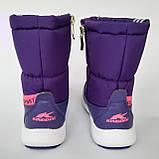 Детские угги сапоги фиолетовые для мальчика и девочки, фото 3