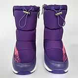 Детские угги сапоги фиолетовые для мальчика и девочки, фото 4