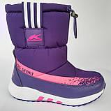 Детские угги сапоги фиолетовые для мальчика и девочки, фото 2