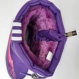 Детские угги сапоги фиолетовые для мальчика и девочки, фото 8