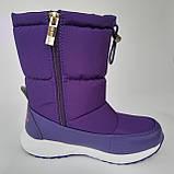 Детские угги сапоги фиолетовые для мальчика и девочки, фото 7