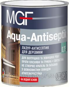 Лазурь-антисептик для древесины MGF 0,75 прозрачный