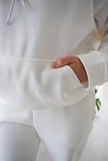 Женский костюм кенгуру Dizzy зимний на флисе молочного цвета белый, фото 3