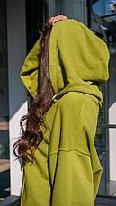 Кофта кенгуру женская Dizzy зеленого цвета грин худи, фото 3