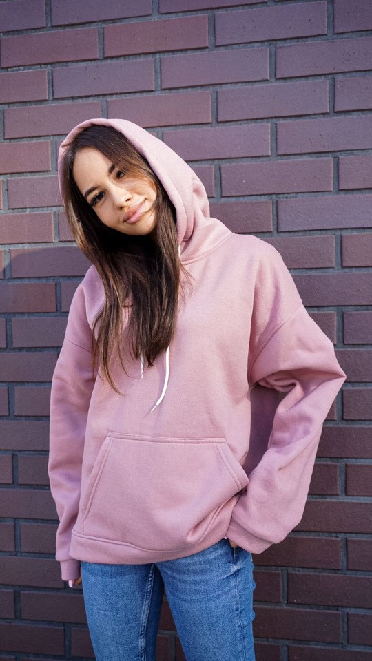 Кофта кенгуру женская Dizzy лилового цвета худи
