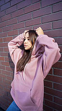 Кофта кенгуру женская Dizzy лилового цвета худи, фото 3