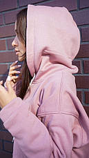 Кофта кенгуру женская Dizzy лилового цвета худи, фото 2