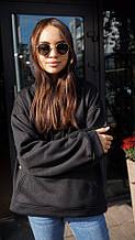 Кофта кенгуру женская Dizzy худи черного цвета