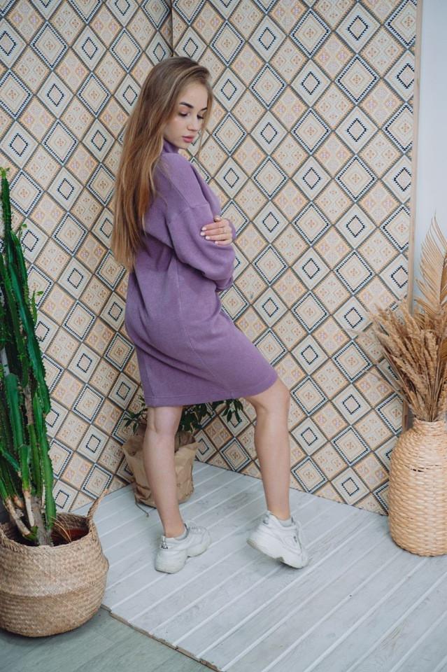 Платье Dizzy лиловое из ангоры