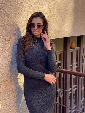 Платье осеннее Dizzy черное шерсть/вискоза, фото 2