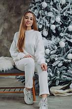 Женский шикарный теплый костюм Dizzy из ангоры белого цвета молоко