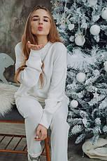 Женский шикарный теплый костюм Dizzy из ангоры белого цвета молоко, фото 3