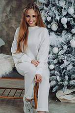 Женский шикарный теплый костюм Dizzy из ангоры белого цвета молоко, фото 2