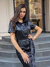 Женское Платье Dizzy из Эко-кожи