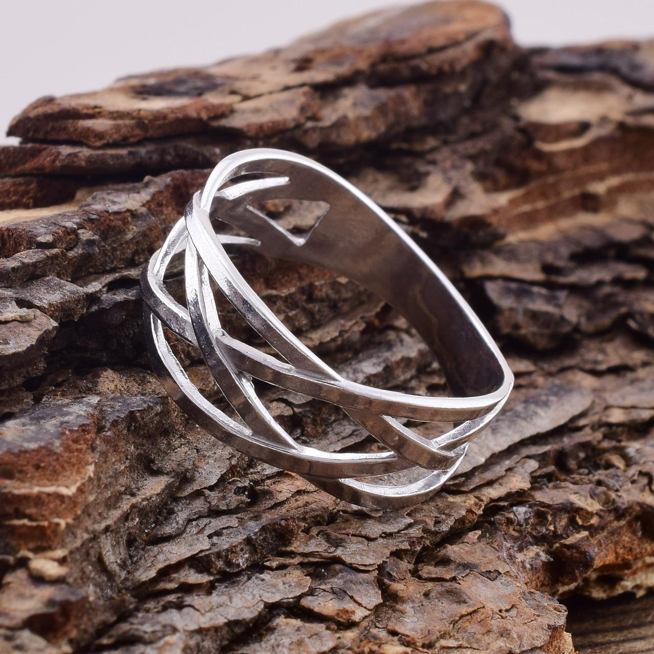 Серебряное кольцо Зигзаг удачи вес 2.3 г размер 195