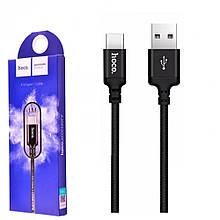 Шнур для зарядки телефону Type-C чорний X14 Hoco