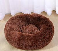 Лежак для кошек и собак, лежанка-подушка, кровать M 50 см до 4 кг светло-бежевый цвет, фото 5