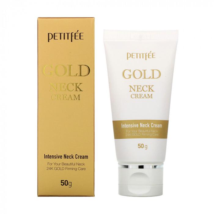 Petitfee Gold Neck Cream Крем для шеи и зоны декольте с Золотом 50г