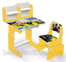 "Парта-стіл дитяча шкільна растишка ""Бетмен"" 032"