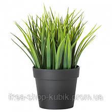 Штучна рослина в горщику, для приміщення/вулиці трава, 9 см ІКЕА FEJKA ФЕЙКА,