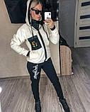 Женский спортивный костюм двойка кофта+штаны экомех на подкладе+трехнить на флисе размер: 58-60, фото 2