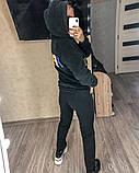 Женский спортивный костюм двойка кофта+штаны экомех на подкладе+трехнить на флисе размер: 58-60, фото 3