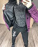 Женский спортивный костюм двойка кофта+штаны экомех на подкладе+трехнить на флисе размер: 58-60, фото 6