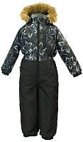 Детский комбинезон Huppa ТМ Хуппа Willy черный с принтом-черный размер 110 (31900030-83409-110)