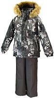 Детский комплект Huppa ТМ Хуппа Winter темно-серый с принтом-тёмно-серый 116 (41480030-82818-116)