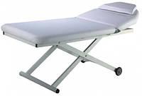 Стол массажный стационарный электрический 830 В кушетка для массажа, для косметолога, для татуажа Белый