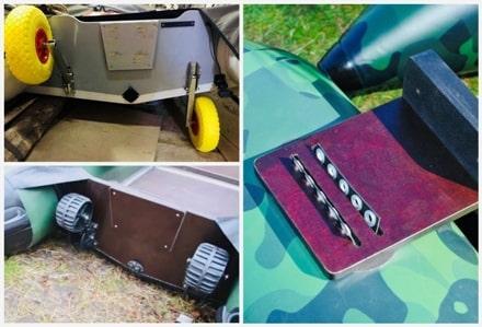 Комплектующие и аксессуары для логдок ПВХ - транец и транцевые колеса