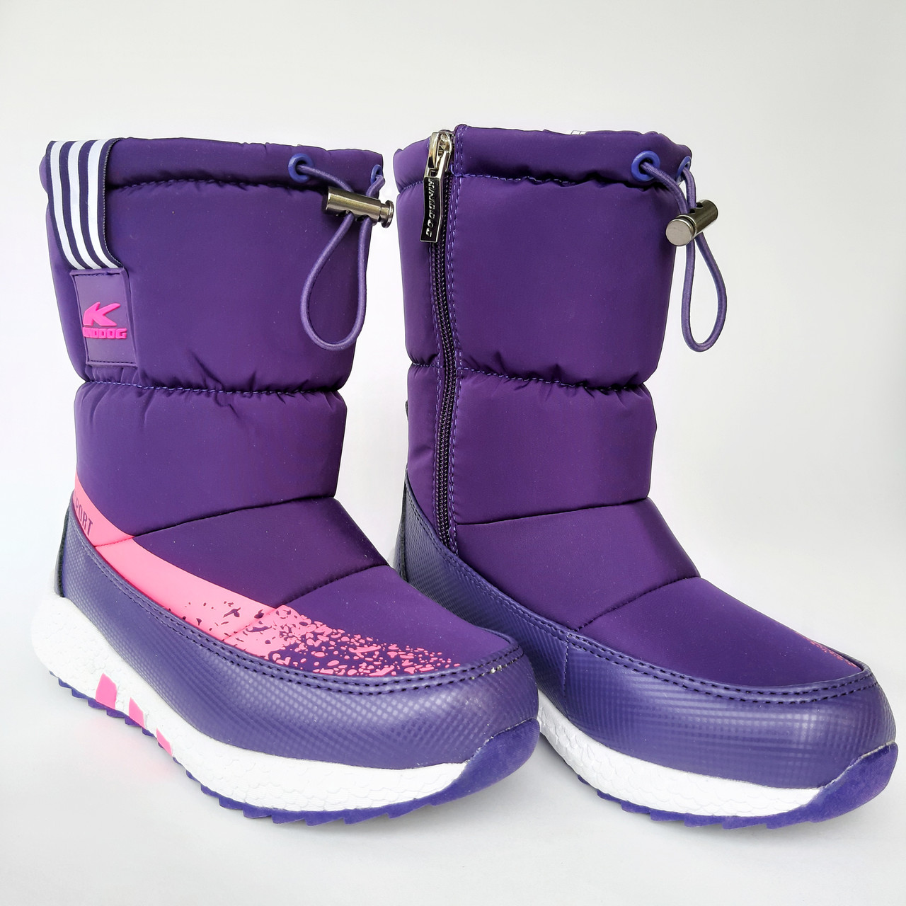 Детские угги сапоги фиолетовые для мальчика и девочки
