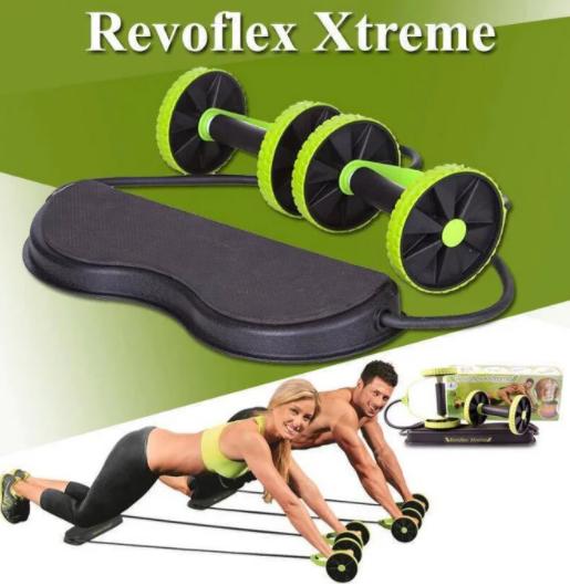 Тренажер Revoflex Xtreme для всього тіла! 40 вправ! Роликовий тренажер