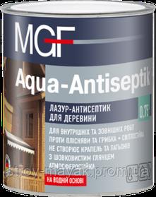 Лазурь-антисептик для древесины MGF 0,75 тик