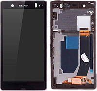 Дисплей Sony Xperia Z L36h C6602, L36i C6603, L36a C6606 + Touchscreen with frame (original) Purple