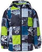 Куртка для детей Huppa ТМ Хуппа модель Alexis лайм с принтом 152 (18160010-02147-152)