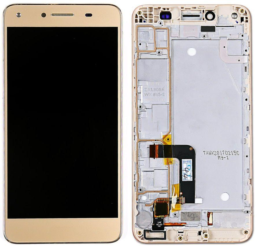 Дисплей Huawei Y5 II, Honor 5, Honor Play 5, CUN-U29, CUN-L21 + Touchscreen with frame Gold