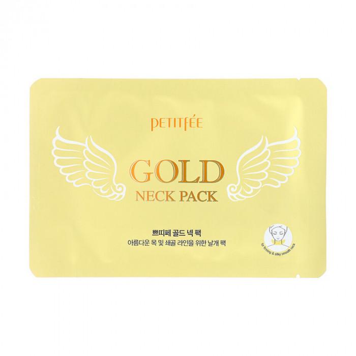 Petitfee Hydrogel Angel Wings Gold Neck Pack 10g Гидрогелевая маска д/шеи с плацентой