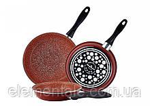 Набор Терракотовых сковородок из эмалированной стали 3 шт Vitrinor Toscana Terracotta VR-1108204 с