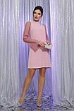Нарядное платье с прозрачными рукавами в лиловом цвете Вилма, фото 2