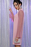 Нарядное платье с прозрачными рукавами в лиловом цвете Вилма, фото 3