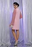 Нарядное платье с прозрачными рукавами в лиловом цвете Вилма, фото 4