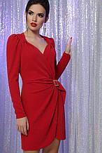 Вечернее платье на запах красное Николь-1