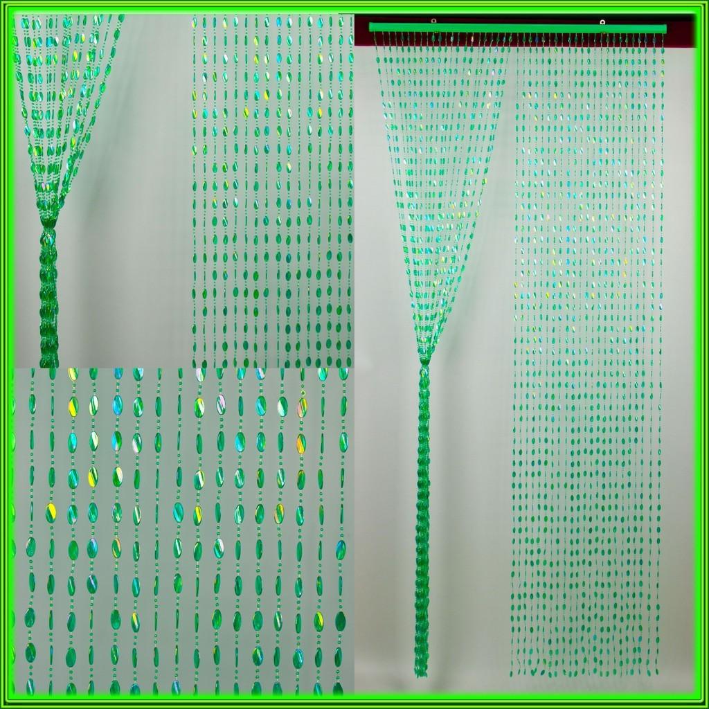 """Штора декоративная пластиковая """"Листик"""" Д08 зелёный_ширина 0,90 метра высота 2 метра"""