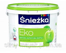 Фарба водоемульсійна Еко Сніжнобіла Снєжка 20 кг для внутрішніх робіт