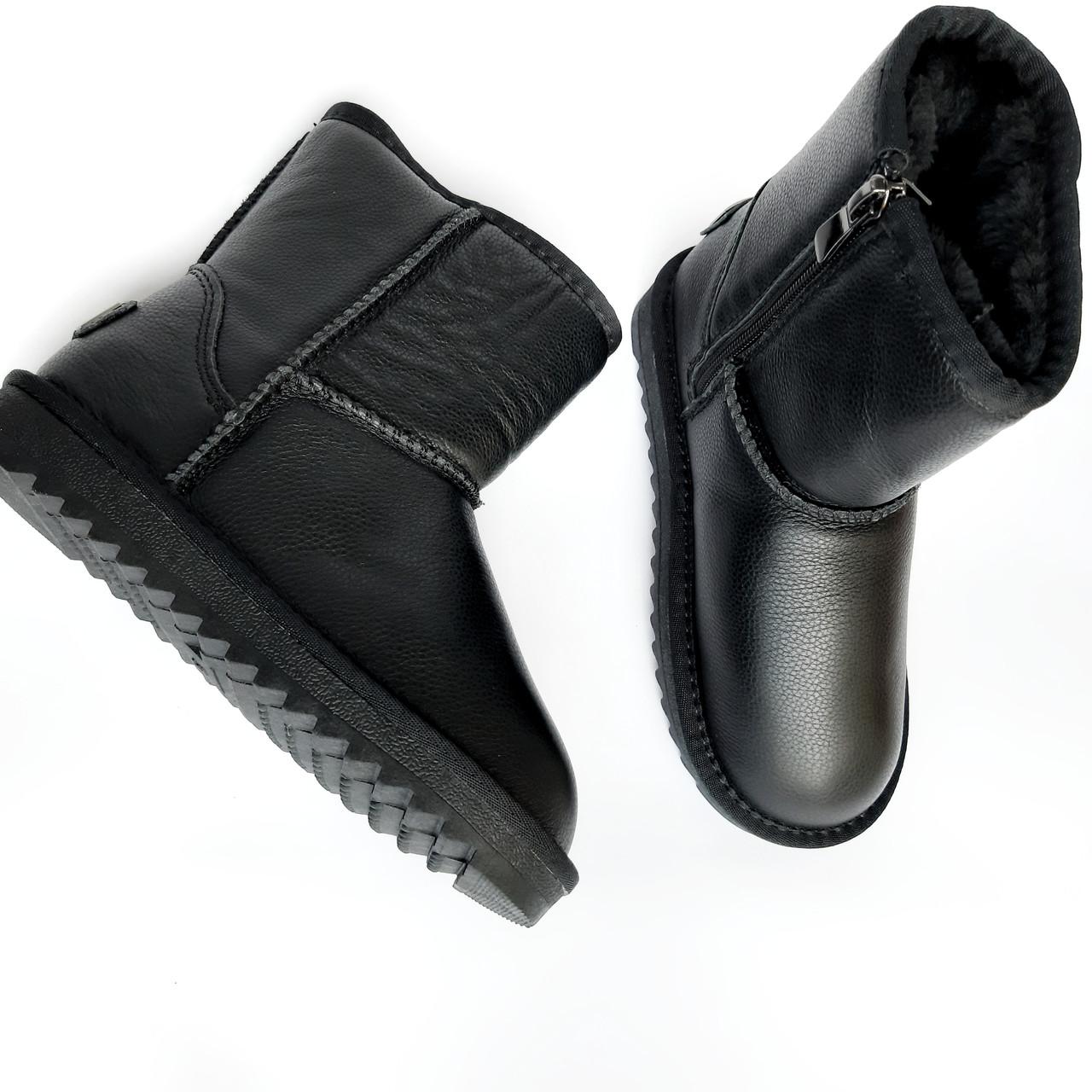 Детские угги сапоги черные для мальчика и девочки