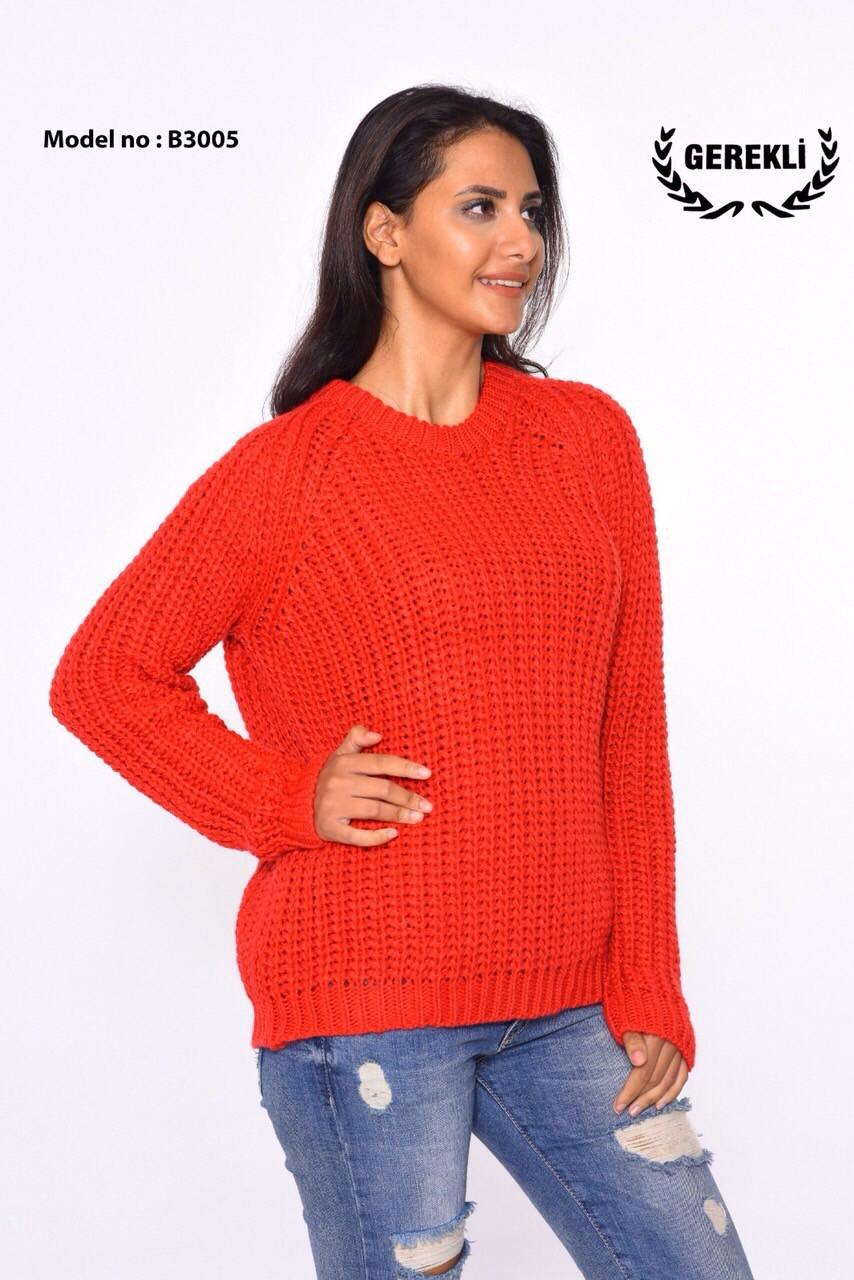 Повседневный турецкий свитер вязка Gerekli 3005 (в расцветках 42-46)