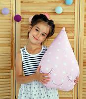 Подушка игрушка детская Хатка Капля Розовая