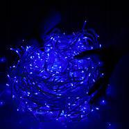 Новогодняя гирлянда Бахрома 300 LED, Синий цвет, 14,5 м + пульт, фото 3